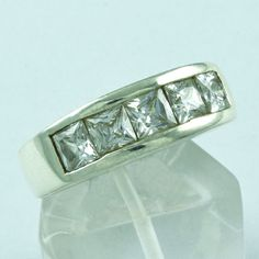 925 STERLING SILVER ENGAGEMENT RING CUBIC ZIRCONIA STONE JEWELRY S.8 US R2083 #SilvexImagesIndiaPvtLtd #Engagement
