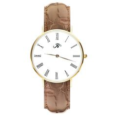 Wellesley - Gold Timepiece with Brown Leather – Joseph Nogucci