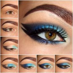 Step by step eye makeup - PICS. My collection