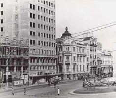 Porto Alegre - Rua Sete de Setembro e Praça Montevideo em 1950 (Léo Guerreiro e Pedro Flores).