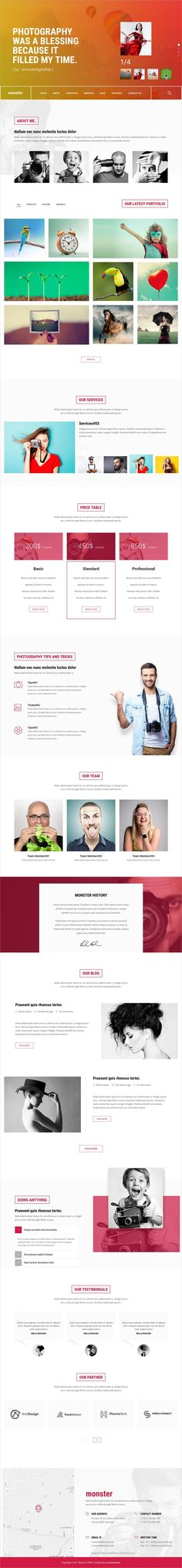 Monster is a modern, clean and elegant 4in1 #design #HTML5 Bootstrap template for creative #business websites download now➩ https://themeforest.net/item/monster-creative-html-template/19253075?ref=Datasata