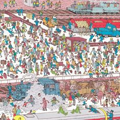 Where is Waldo ? Transportation Activities, Road Trip Activities, Where's Waldo Pictures, Wo Ist Walter, Ou Est Charlie, Find The Hidden Objects, World In Motion, Can You Find It, Wheres Wally