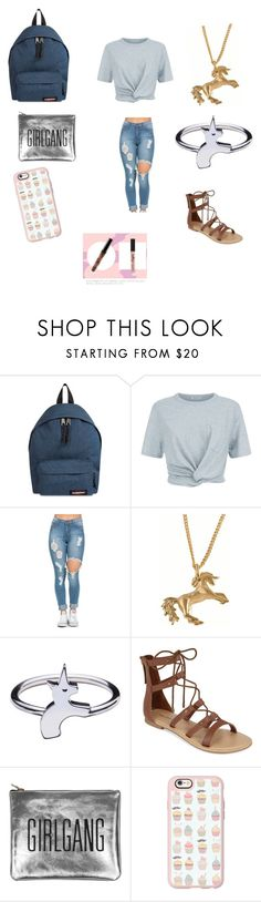 """Back to school bishes❤️👅"" by aadkinsbcvc ❤ liked on Polyvore featuring Eastpak, T By Alexander Wang, Joy Everley, Rachel Balfour Jewellery, Call it SPRING, Sarah Baily and Casetify"