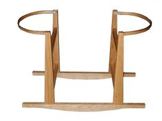 Rockers by Richard's Moses Basket Rocking Stand in Natural makes for a great way to keep your baby close.   This stand is made of either solid oak or ash - depending on availability - and has no paints or stains so it can easily be incorporated with any nursery decor