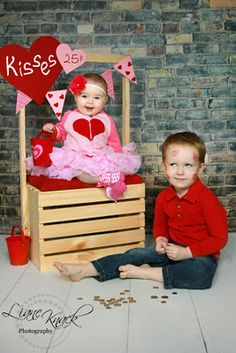 Kissing booth... too cute! C doesn't have a big brother but this would be cute for her and her Daddy.