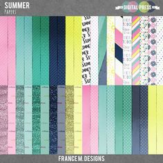 Summer | Papers from France M Designs