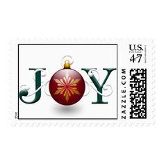 """Joy"" Christmas Postage"