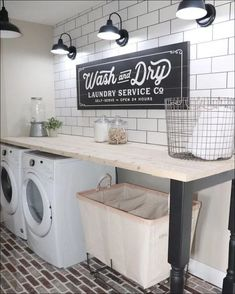 """The Laundry Room Makeover is Finally Done! – Welsh Design StudioThe Laundry Room Makeover is Finally Done! – Welsh Design Laundry Room Makeover Ideas - Captain DecorFantastic """"laundry room storage small cabinets"""" detail is Mudroom Laundry Room, Laundry Room Remodel, Laundry Room Organization, Laundry Room Design, Laundry Decor, Laundry Room Countertop, Organized Laundry Rooms, Laundry Signs, Laundry Room Folding Table"""