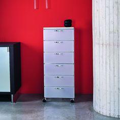 Composizione ufficio con due scrivanie e cassettiera color rovere chiaro con finitura vero legno