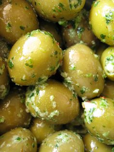 French Green Olives ~ I've never had french green olives. But I love regular green olives. yum!