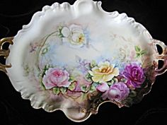 Antique Pouyat French Limoges Porcelain Tray. Click on the image for more information.