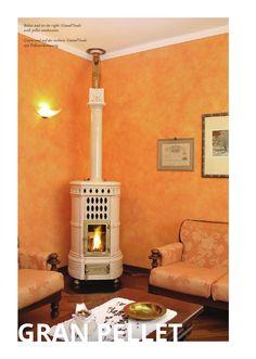 die klassischen kachelofen von castellamonte sind echte blickfanger, decorative functional wood stoves castellamonte white ceramic tiles, Ideen entwickeln