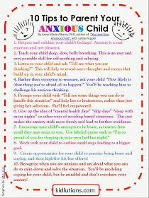 10 Tips to Parent Your Anxious Child #anxiety