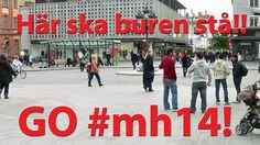 Vi ses väl i #Uppsala?  Här, på Stora Torget, kommer buren att stå i årets Musikhjälpen.  / Nicklas Malmberg #mh14