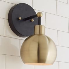 Young  House Love Bubble Sconce brushed_brass_with_bronze