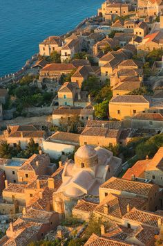 Medieval Walled Town Of Monemvasia, Greece Stock Image - Image: 13222291