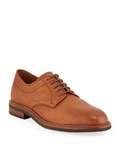 N6UU1 Brunello Cucinelli Men's Pebbled Deerskin Leather Derby Shoes Deerskin, Derby Shoes, Brunello Cucinelli, Luxury Fashion, Oxford Shoes, Budget, Ralph Lauren, Lace Up, Leather