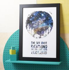 Personalised Constellation Parent And Child Print