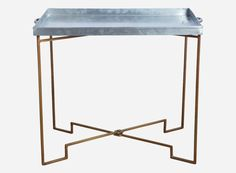Tray table by House Doctor. Industrial Chic, Industrial Design, Other Rooms, Metal Furniture, Drafting Desk, Home Accessories, Living Room, Chair, Interior