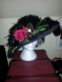 Edwardian Victorian hat I made
