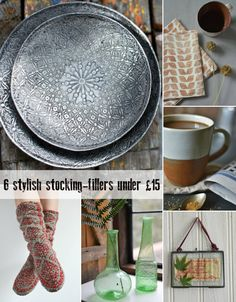 Six stylish stocking-fillers under £15 from fair trade home accessories store Decorator's Notebook.