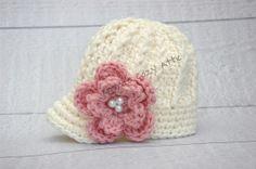 Newborn girl newsboy crochet newsboy visor brim by emmascozyattic, $26.00