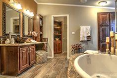 Hacienda III Master Bath by Palm Harbor Homes - 4 Bedrooms, 3.5 Baths, 3,012 Sq. Ft.