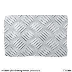 Iron steal plate looking texture hand towel