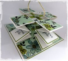 Carte Pull Up : vidéo Fancy Fold Cards, Folded Cards, 3d Paper Projects, Card Making Techniques, Stamping Up Cards, Card Templates, Mini Albums, Making Ideas, Cardmaking