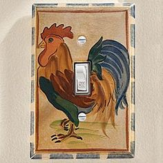 Rooster Switch Plate