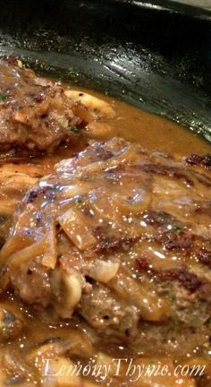 Salisbury Steak {with Mushroom Gravy}