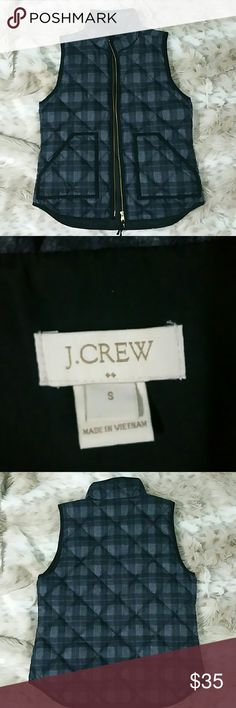 J Crew Vest Nwot, charcoal and black with a hint of blue. Gold hardware, size small, Christmas present I've never wasted nor worn. J. Crew Factory Jackets & Coats Vests