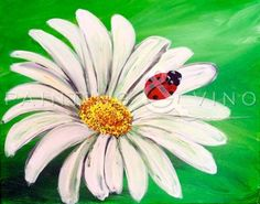 "Join us and paint ""Ladybug"" on 6/22/15 at Sara the Wine Bar (Culver City) from 6:30- 9:30. Click on the photo to register now! Happy Painting!"