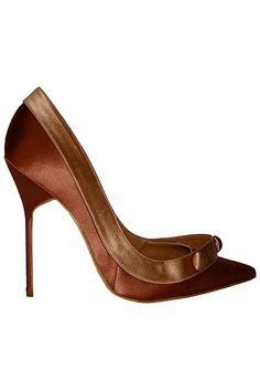 Manolo Blahnik - Shoes - 2010 Fall-Winter via: Women's Shoes, Zapatos Shoes, Me Too Shoes, Shoe Boots, Boot Heels, Sapatos Manolo Blahnik, Chic Chic, Mocassins, Fashion Heels