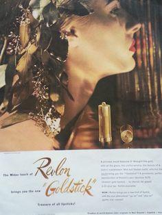 1947 Revlon Goldstick Lipstick A Princess Would Treasure It Original Beauty Ad   eBay