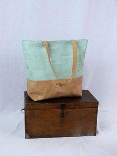 Schultertaschen - großer Shopper aus Korkstoff  - ein Designerstück von LeKo-Design bei DaWanda