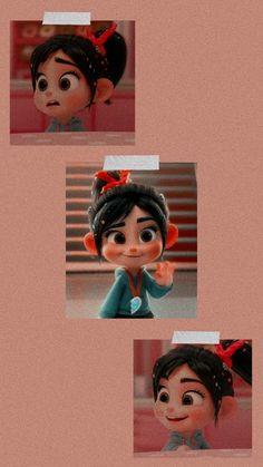 Cartoon Wallpaper Iphone, Cute Disney Wallpaper, Iphone Background Wallpaper, Cute Cartoon Wallpapers, Iphone Wallpaper, Disney Icons, Disney Art, Vanellope Y Ralph, Cute Disney Characters