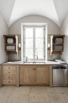 Italian Kitchen Design - Artichoke Kitchen Words, Family Kitchen, Kitchen Pantry, Rustic Kitchen, Kitchen Cabinets, Prep Kitchen, Island Kitchen, Upper Cabinets, Kitchen Shelves