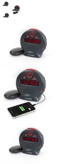 Digital Clocks and Clock Radios: Sonic Alarm Clock Display Bomb Jr. Boom Super Extra Loud Mega Sound Plus Shaker -> BUY IT NOW ONLY: $37.39 on eBay!
