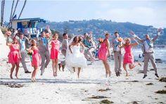 Teal + Coral Beach Wedding