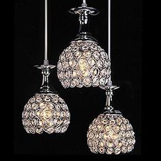 MAMEIAMEI3 Lights Modern Crystal Chandelier Pendant Lighting * Continue to the product at the image link.