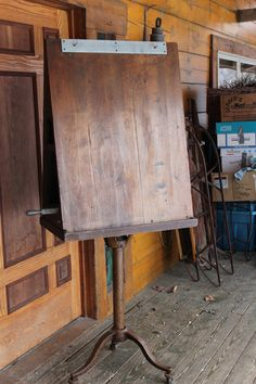 Stunning Antique Vintage Artist Wood Easel by SpringWood on Etsy, $600.00 -- I'd love to paint  on this beaut.