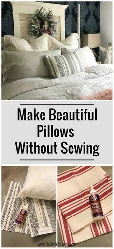 No Sew Placemat Pillows