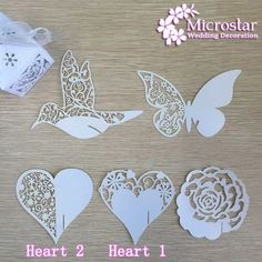 Wedding Card 50 Pieces Heart Butterfly Flower Bird Glass Place Cards Laser Cut Pearl scent Cards Birthday Party Table Decoration