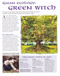 Book of Shadows: Gaian Ecology ~ Green Witch page. Book of Shadows: Gaian Ecology ~ Green Witch page. Green Witchcraft, Wicca Witchcraft, Eclectic Witch, Hedge Witch, All Nature, Nature Witch, Book Of Shadows, Occult, Ecology
