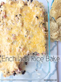 Enchilada Rice Bake- so easy, delicious, and family-approved! Serve with sour cream, tortilla chips, and avocado for a yummy dinner. www.togetherasfamily.com