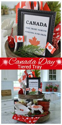 Canada Day Tiered Tray With Images Tiered Tray Canada Day Tiered Tray Decor
