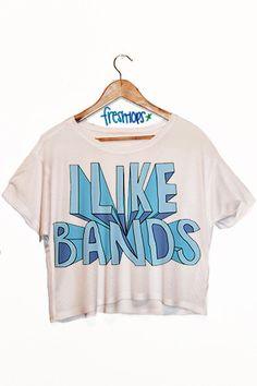 I Like Bands Crop Top - Fresh-tops.com YES. @lexi Pixel Lashbaugh