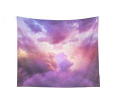 'The Skies Are Painted (Cloud Galaxy)' Tapestry by soaringanchor Tapestry Design, Wall Tapestry, Purple Tapestry, Peach Bedroom, Teen Bedroom, Bedroom Ideas, Galaxy Colors, Vivid Colors, Framed Prints