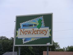 New Jersey State Sign